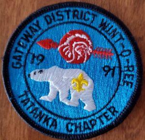 Suanhacky Lodge #49 Tatanka Chapter 1991 Wint-O-Ree Patch eR1991