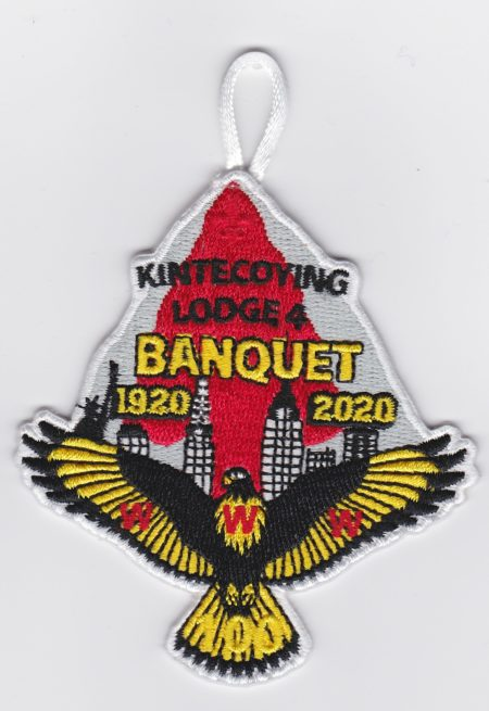 Kintecoying Lodge #4 2020 Banquet Patch 4eA2020-1