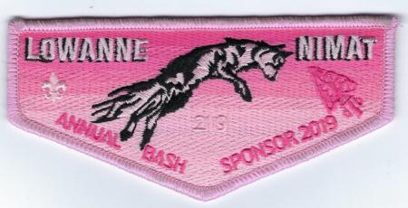 Lowanne Nimat Lodge #219 2019 Banquet Sponsor Flap eS2019-1
