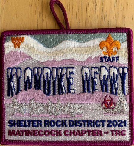 Buckskin Lodge #412 Matinecock Chapter 2021 Klondike Derby Staff Patch eX2021-2